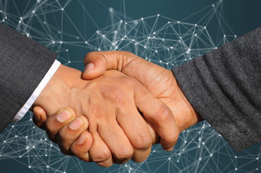 parceria com a startup