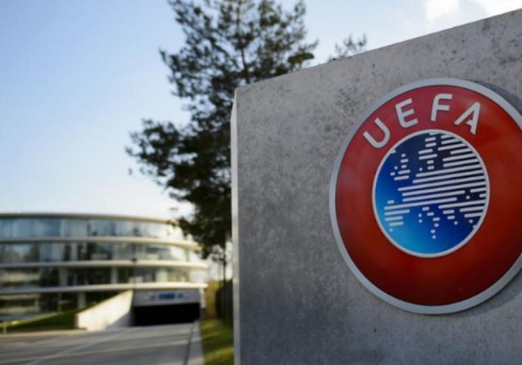 Símbolo da UEFA, na sede da instituição