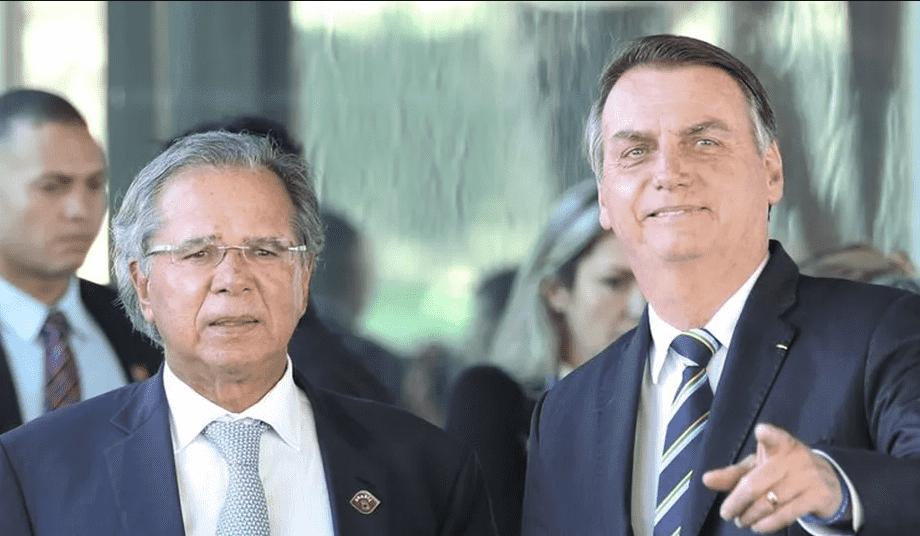 Bolsonaro e Paulo Guedes CPMF