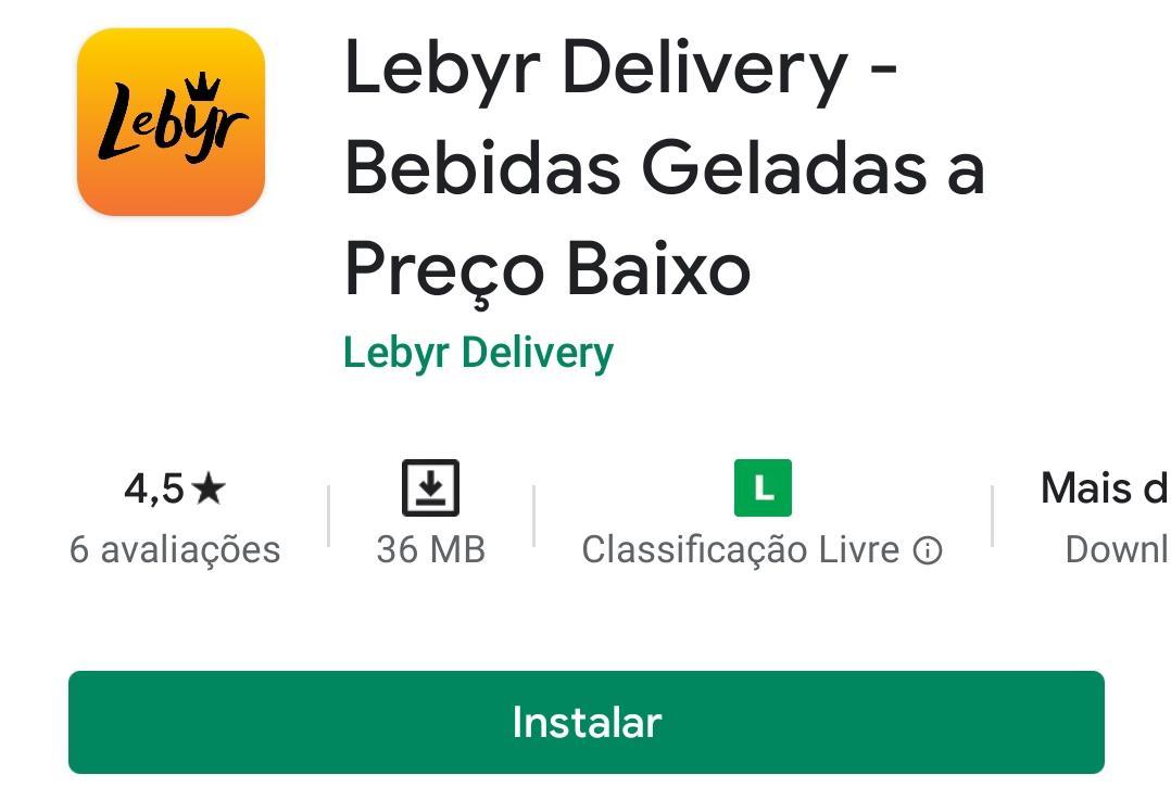 Imagem mostra o aplicativo de bebidas Lebyr