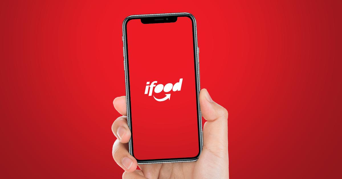 Imagem mostra o logotipo do Ifood