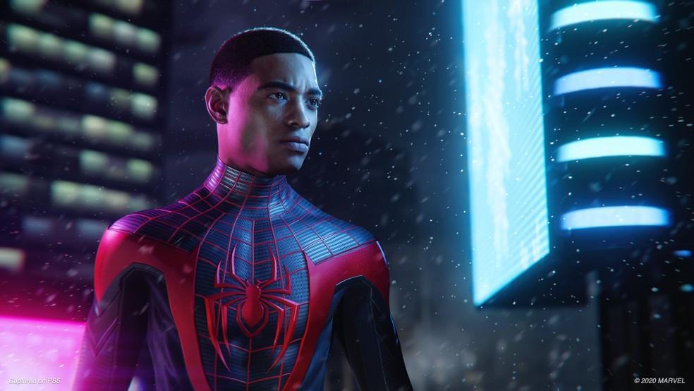 Imagem mostra o novo homem aranha jogo para o playstation 5