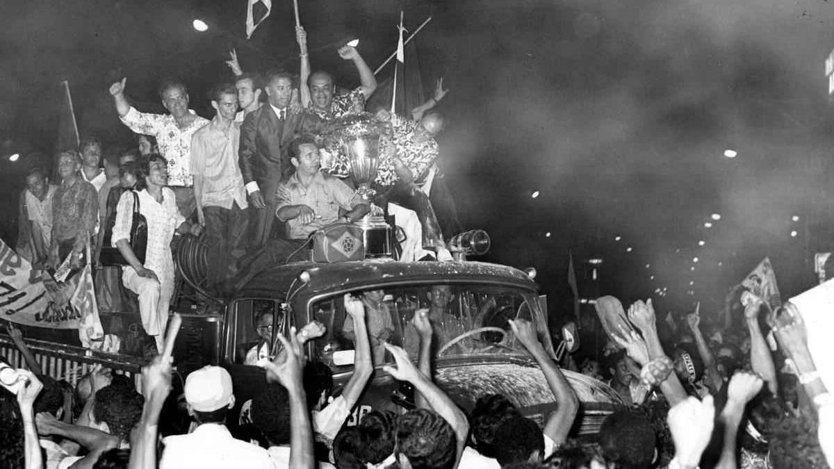 Comemoração do título do Brasileirão de 1971