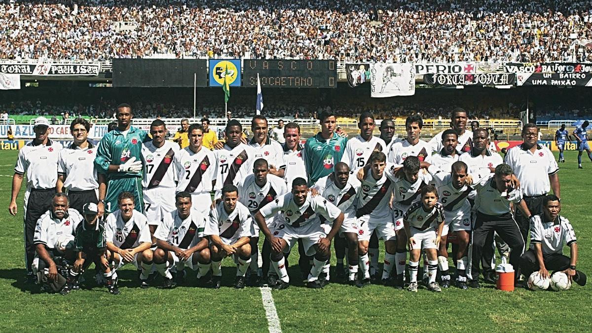 Vasco campeão de 2000: time tem um dos maiores jejuns do Brasileirão