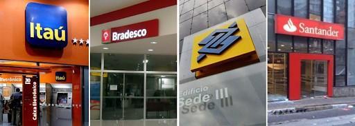logotipo principais bancos brasileiros