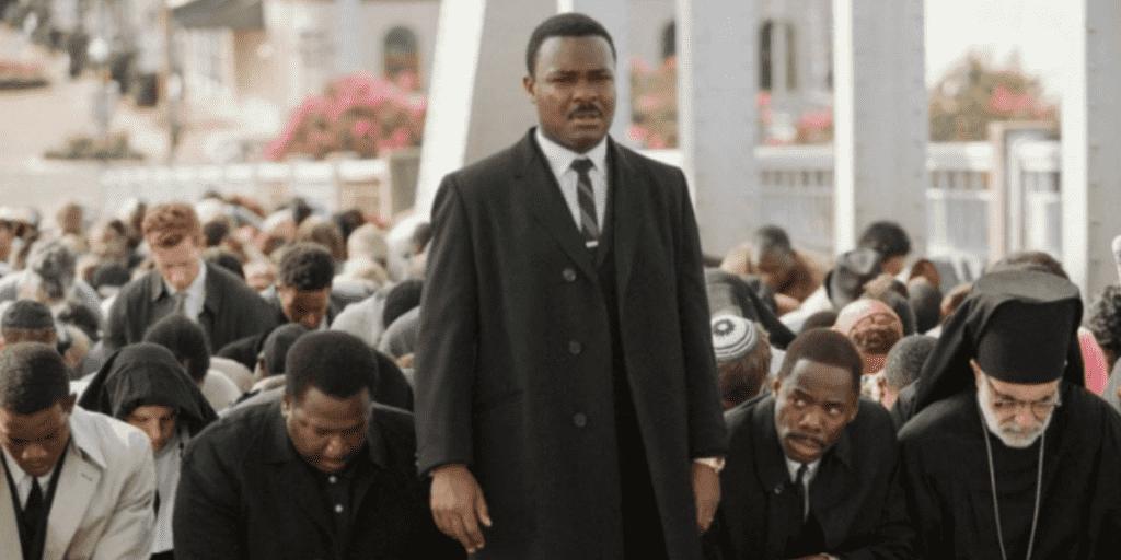 Imagem mostra cena do filme Selma, com David Oyelowo (no papel de Martin Luther King Jr., importante ativista contra o racismo)