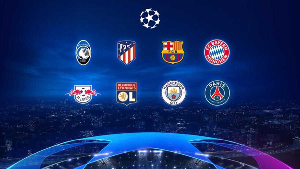 Clubes que estão nas chaves das quartas de final da Champions