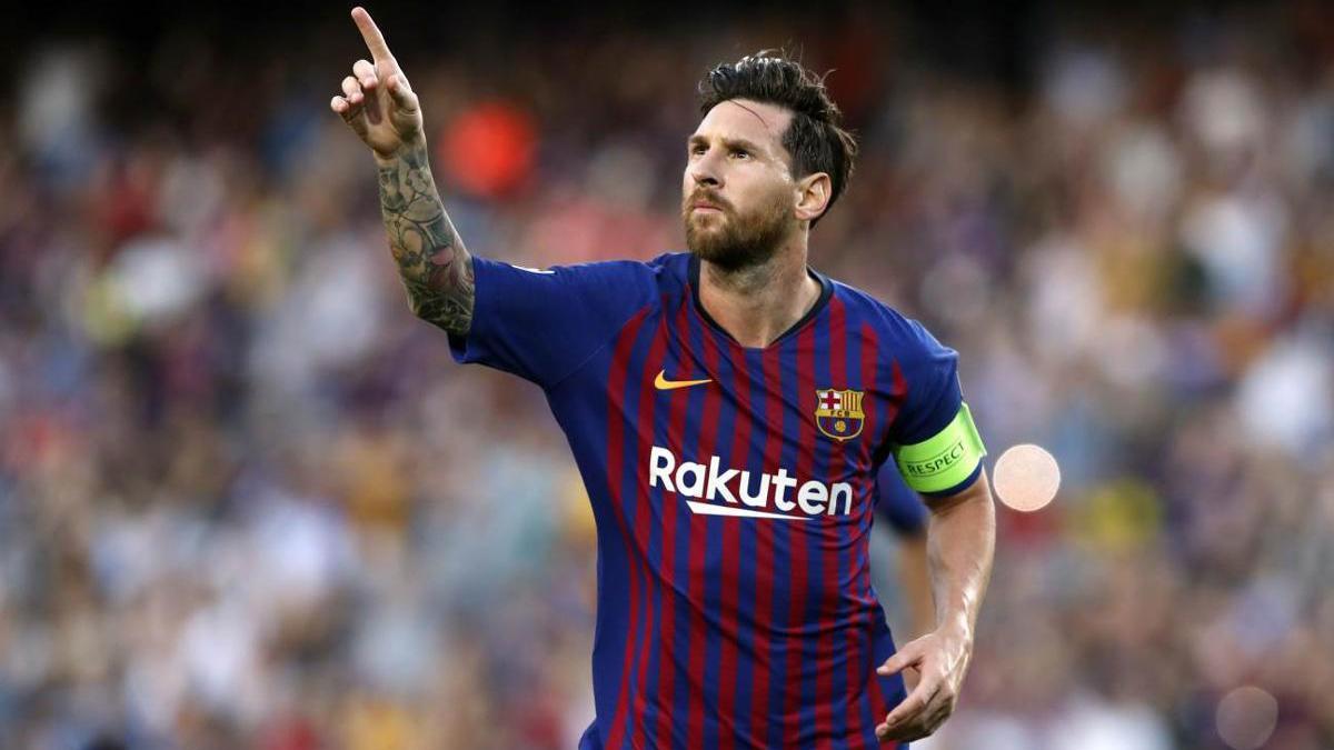 Messi comemora gol: craque pode sair do Barcelona