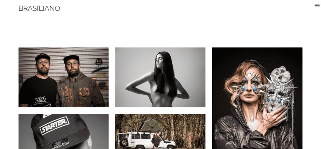 Imagem mostra print do portfólio do fotógrafo Antonio Brasiliano