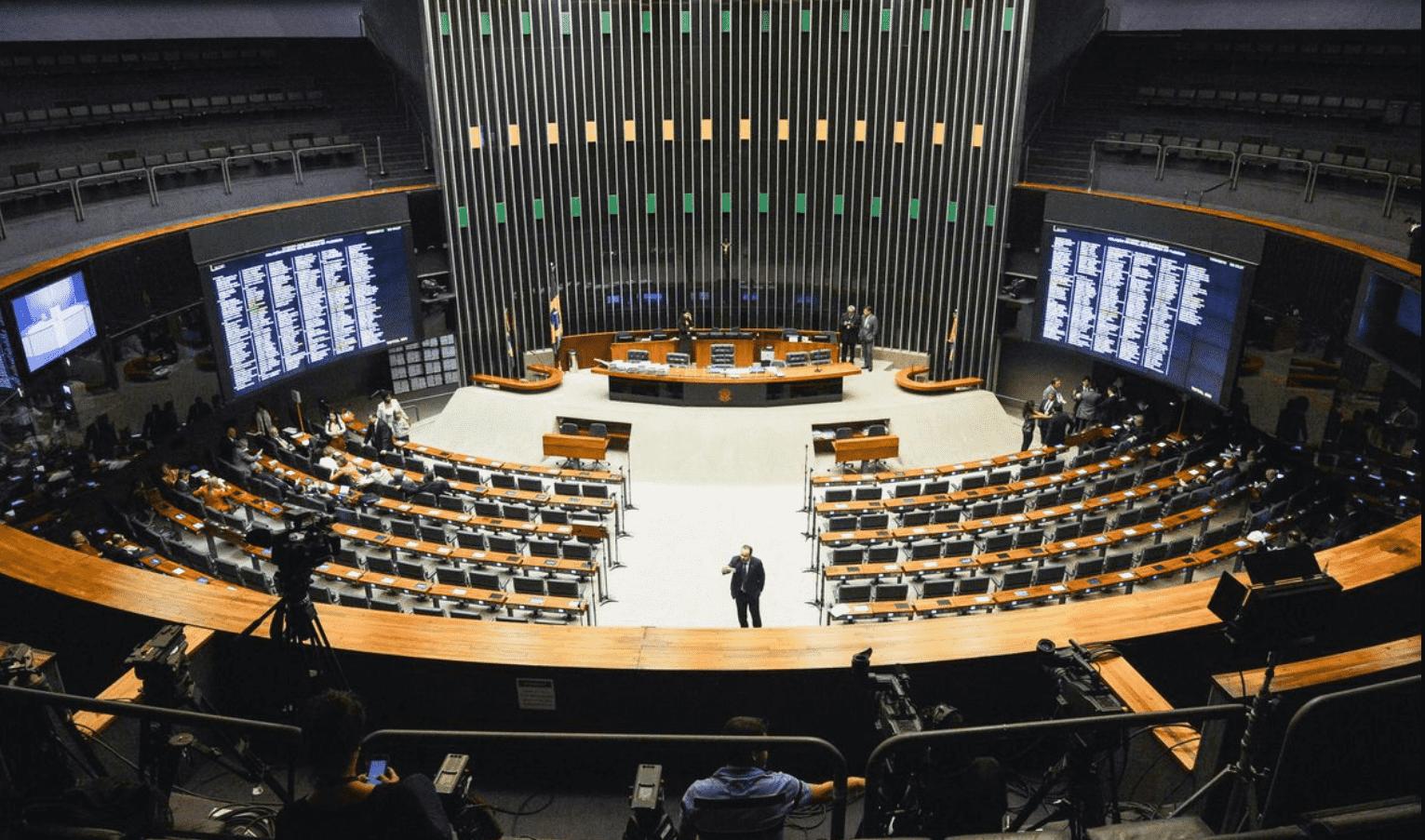 Foto mostra o congresso nacional visto de cima.