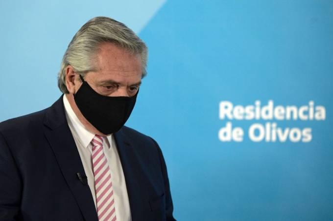 Foto mostra Aberto Fernandéz, presidente da Argentina