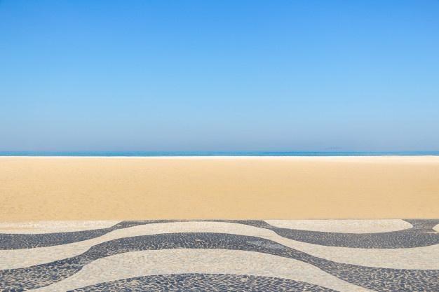Praia de Copacabana com lugar marcado