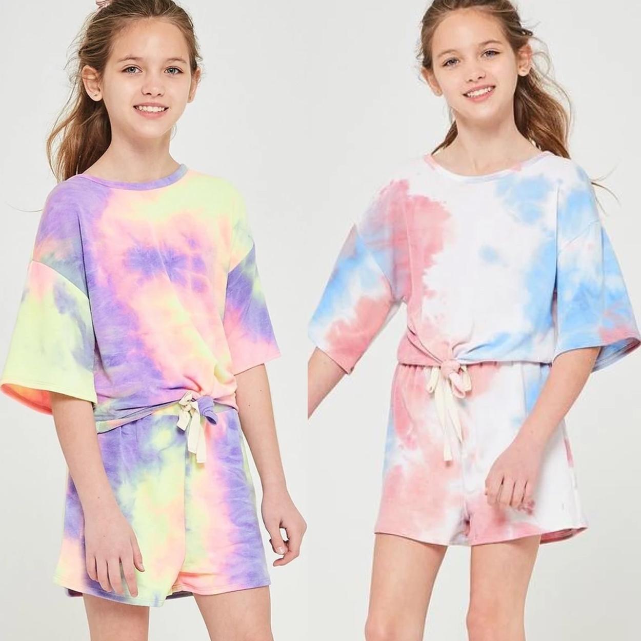 conjunto tie dye infantil tendencias