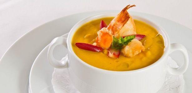 Sopa de camarão e Cabotiá