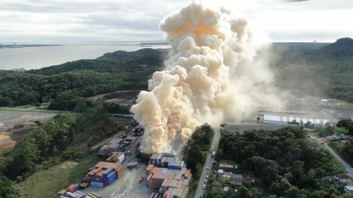 fumaça de nitrato de amônio em explosão em Santa Catarina, 2013