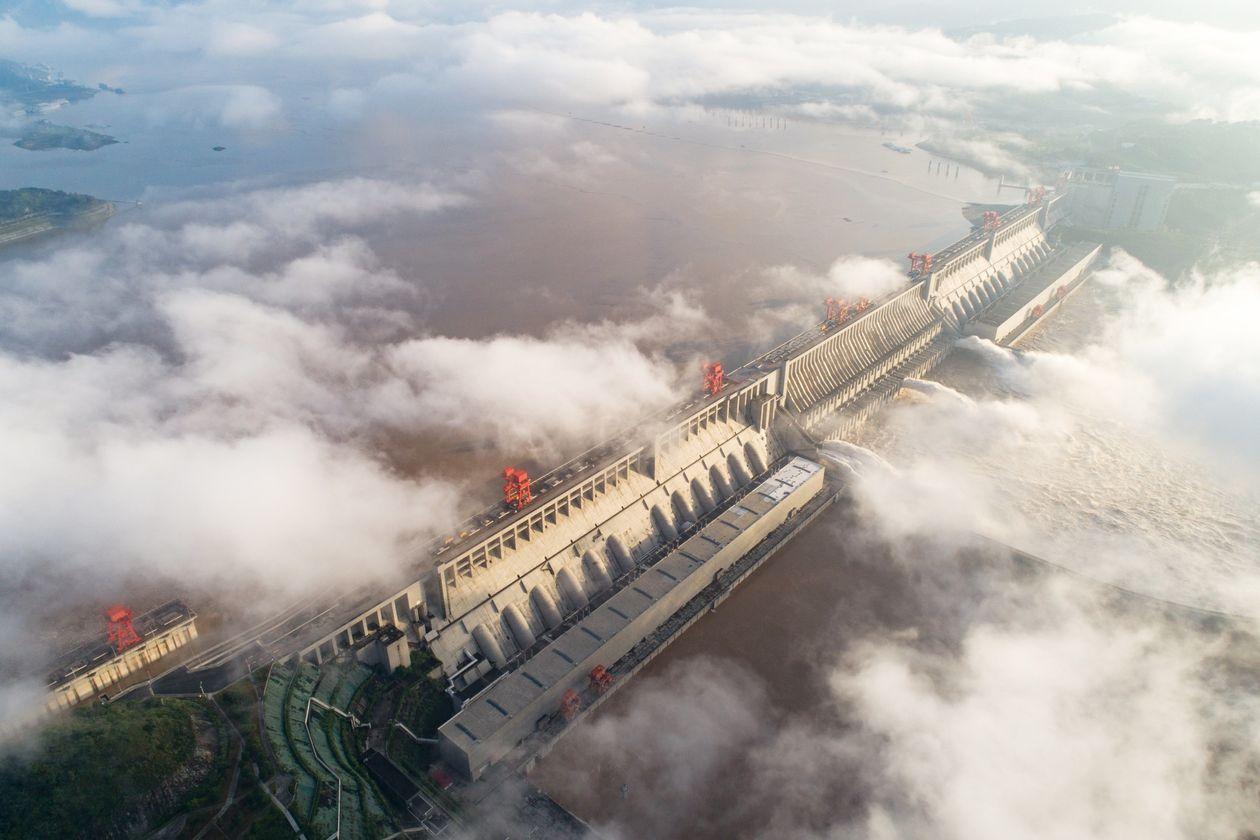 inundação na china atinge barragem das tres gargantas