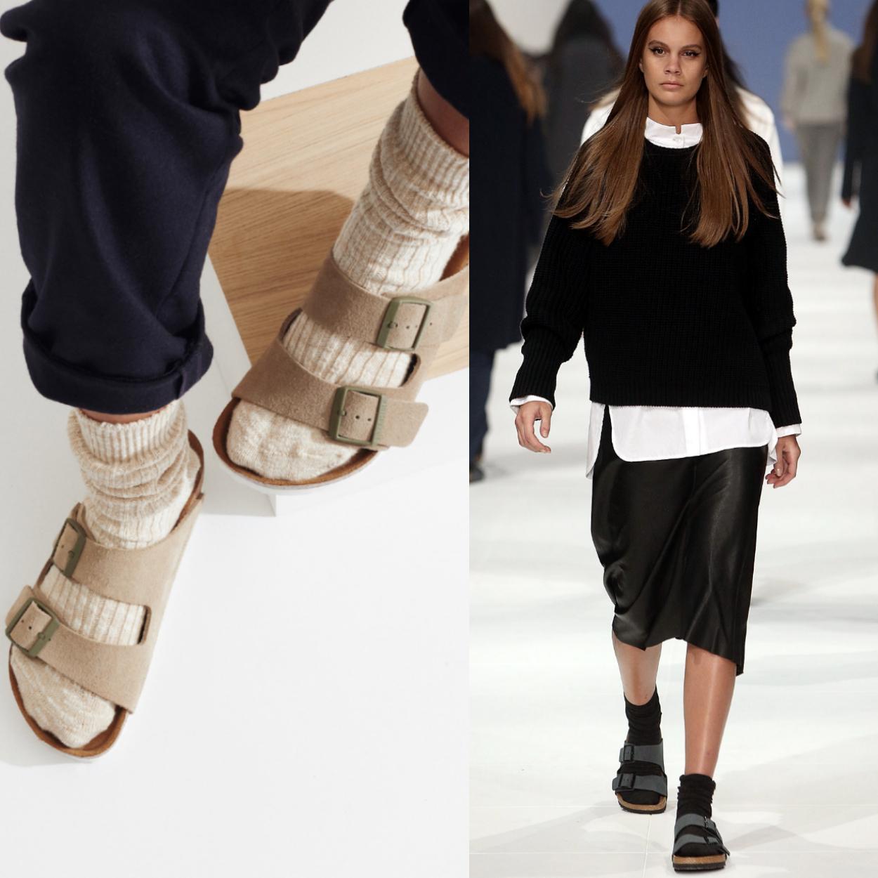 sandália no inverno