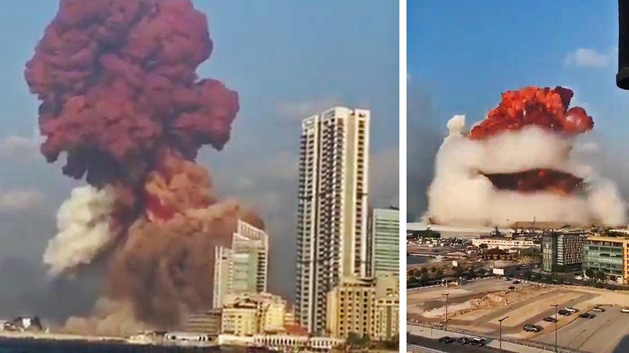 explosão atinge beirute