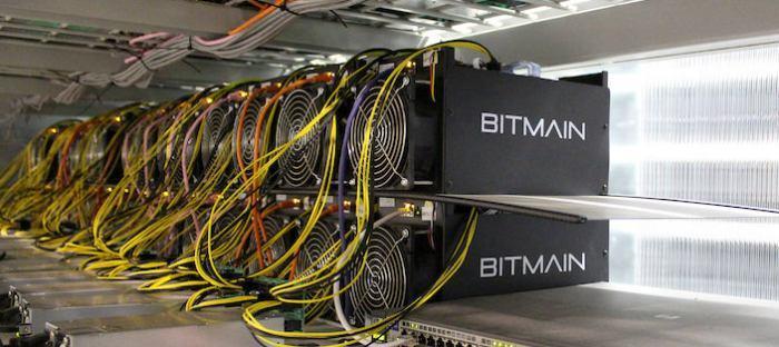 equipamento ASIC de mineração de bitcoin da Bitmain