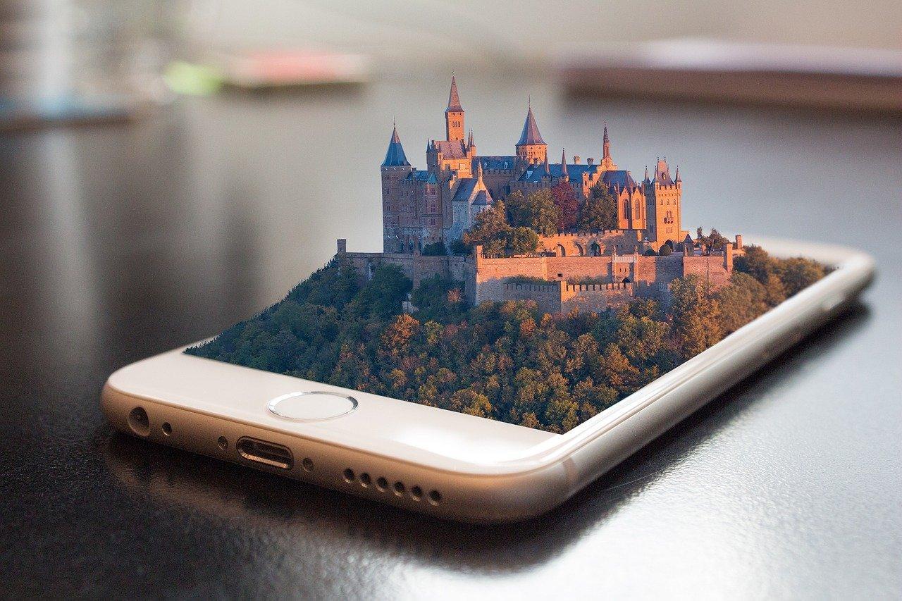 Cidade 'saindo' de celular