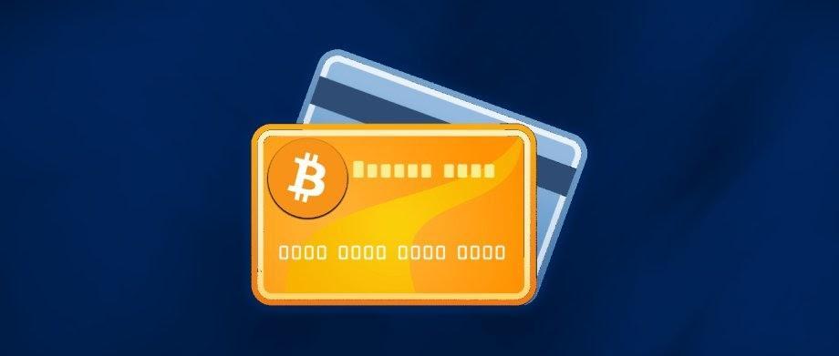 cartao de crédito com símbulo do bitcoin