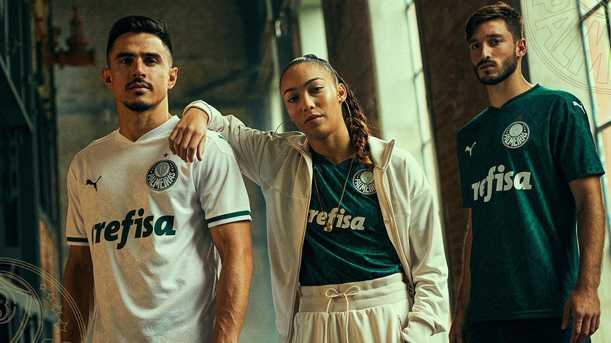 Novas camisas do Palmeiras lançadas pela Adidas em 2020