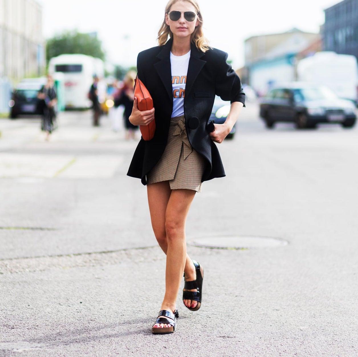 blazer e sandália Birken