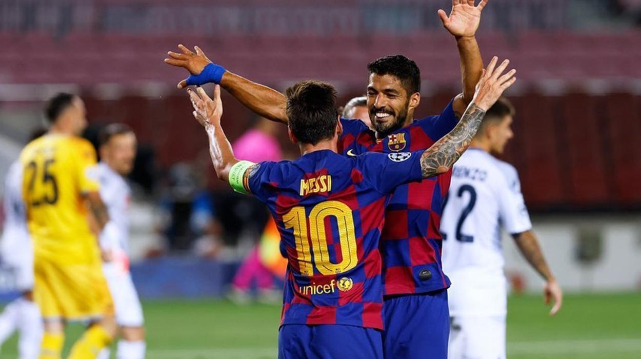 Suárez e Messi no Barcelona