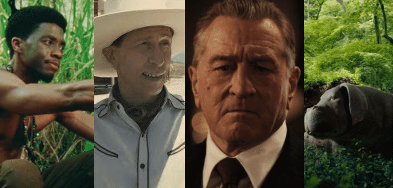 colagem com cenas de 5 dos melhores filmes para assistir na Netflix