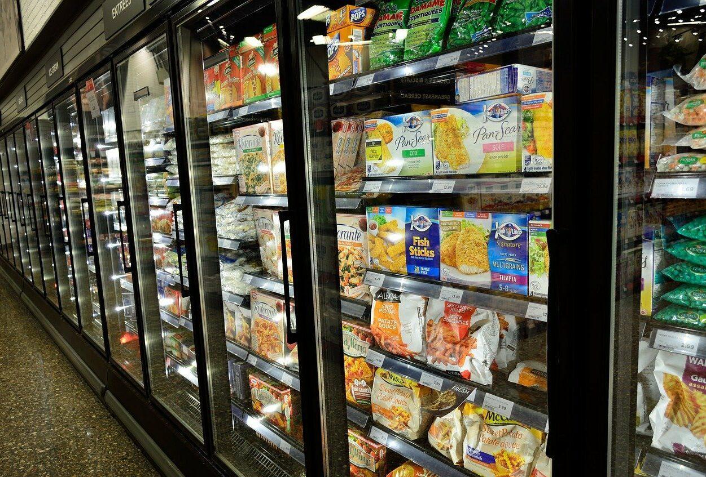 Alimentos congelados com coronavírus