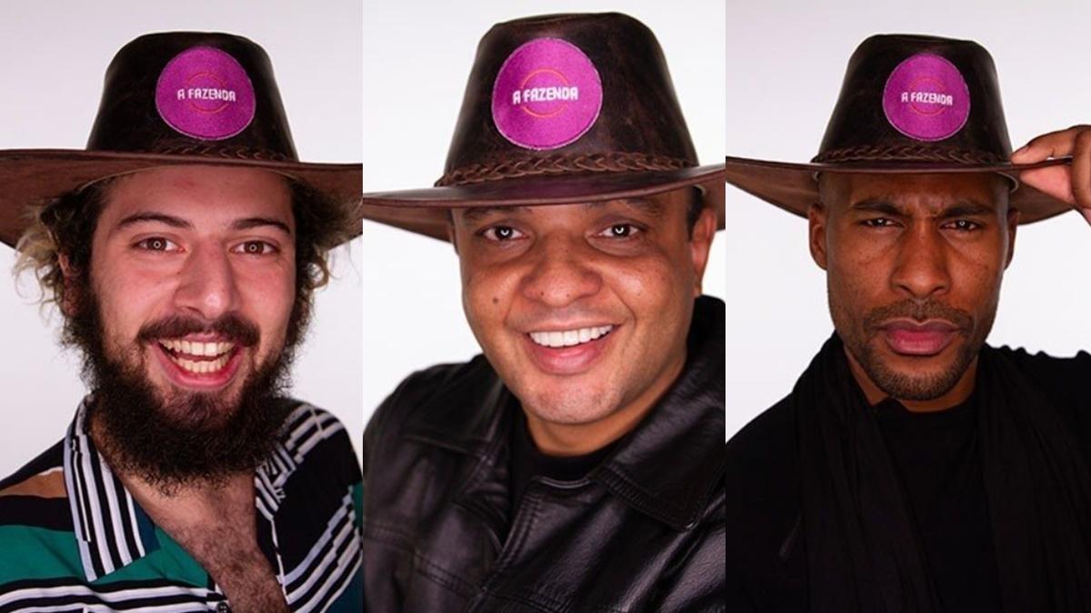Cartolouco, Fernandinho e Rodrigo em A Fazenda 2020