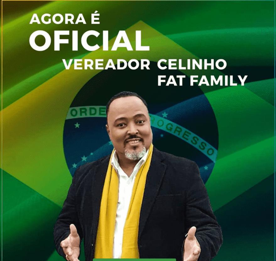 Foto mostra Celinho Cipriano, um dos candidatos famosos para Eleições 2020