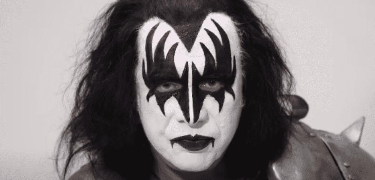 Gene Simmons maquiado