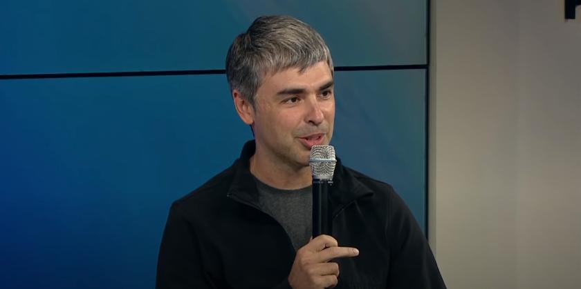 Larry Page durante evento do Google