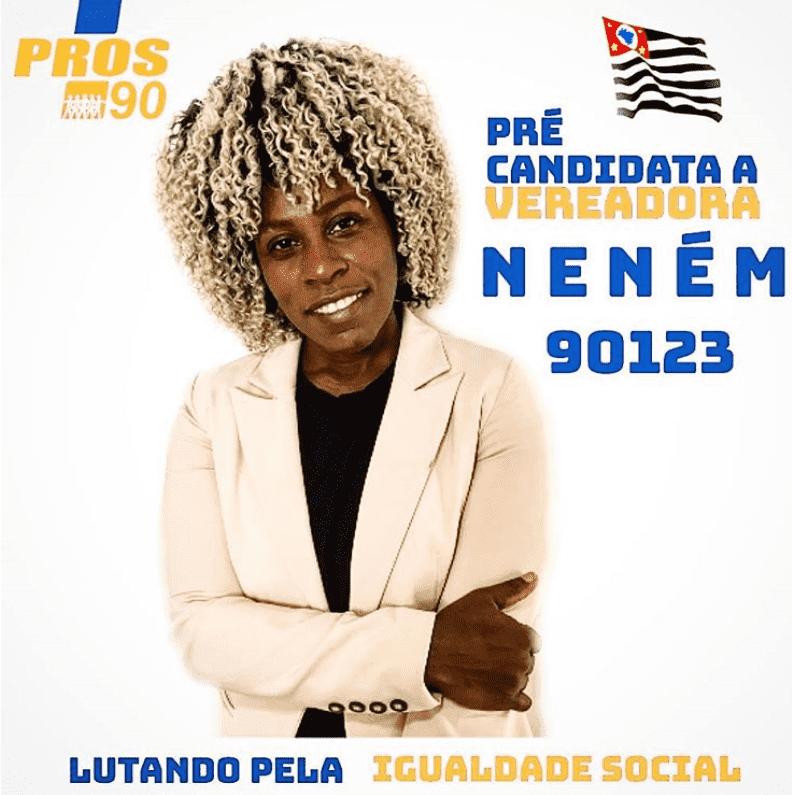 Foto mostra a candidata Neném