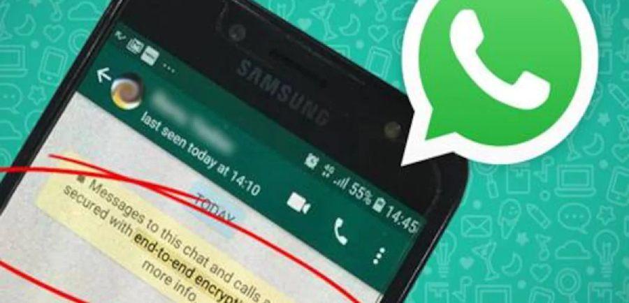 telefone com whatsapp mostrando aviso de criptografia