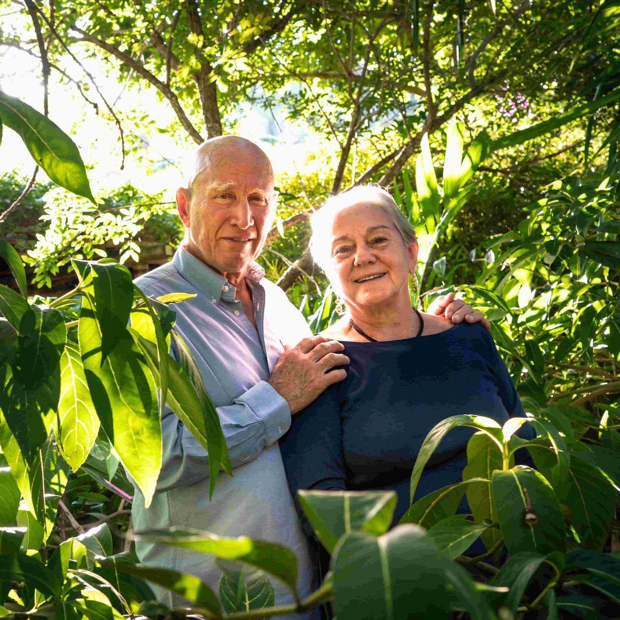 O fotógrafo e sua esposa, Lélia