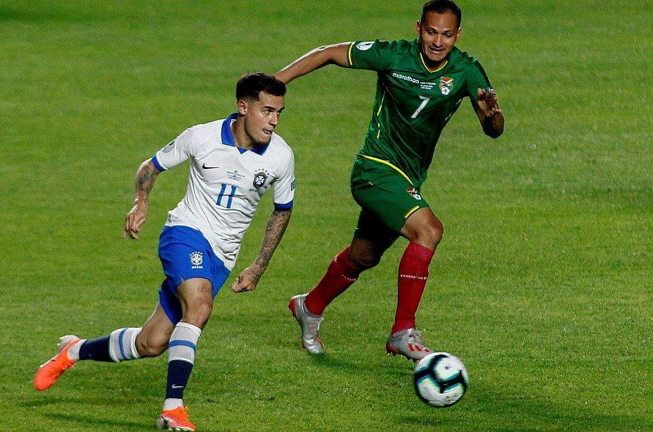 Jogo entre Bolívia e Brasil