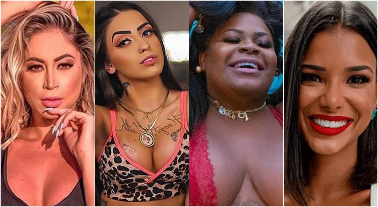 Imagem das participantes do reality A Fazenda 12 - Carol Narizinho, MC Mirella, Jojo Todynho e Jakelyne Oliveira para enquete a fazenda 12