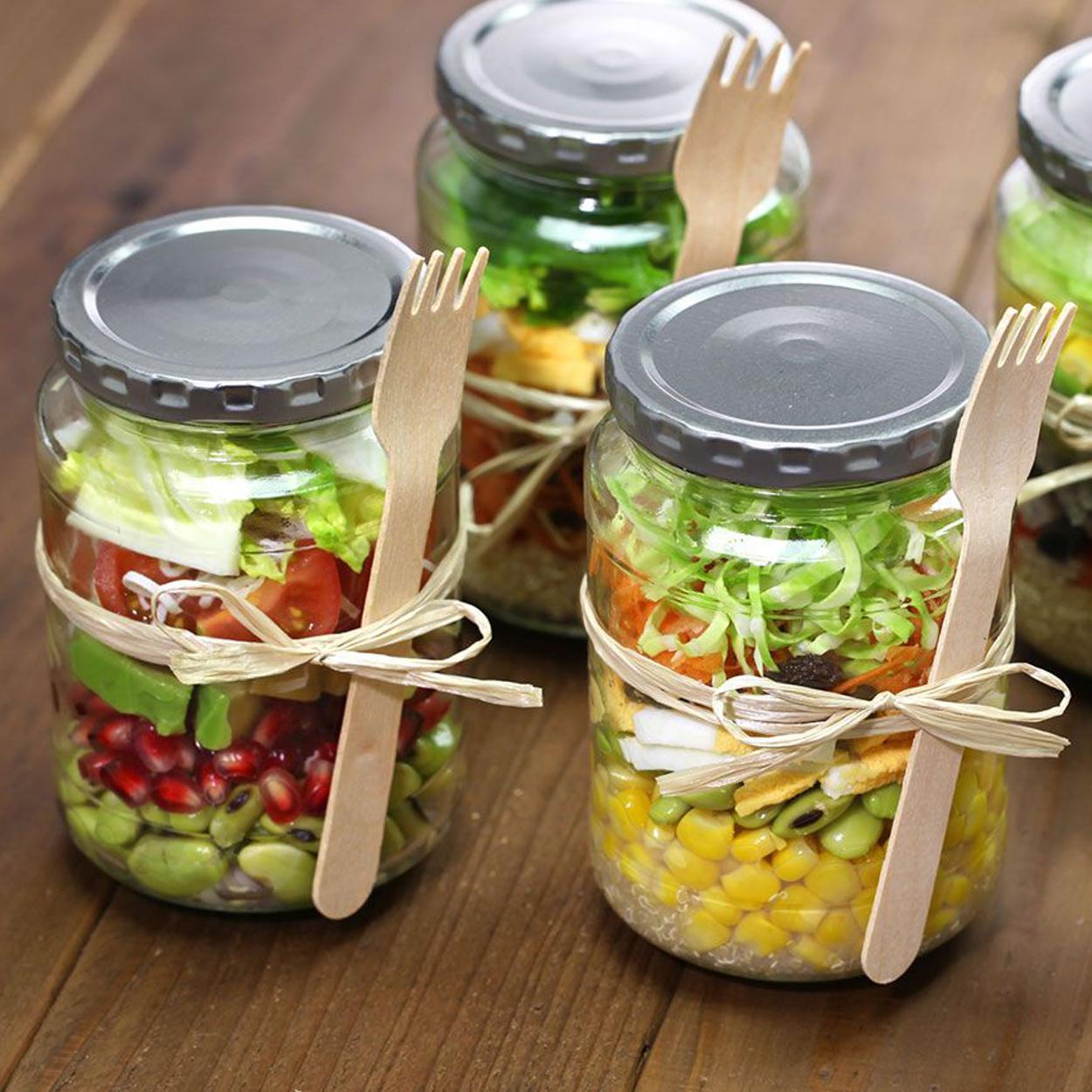 Receita para vender de salada no pote