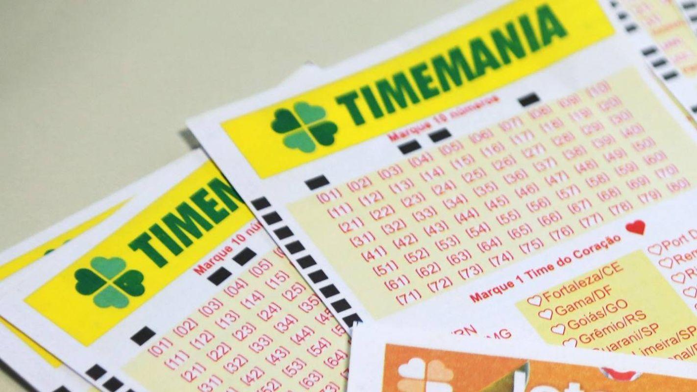 resultado da Timemania - a imagem mostra volantes da Timemania