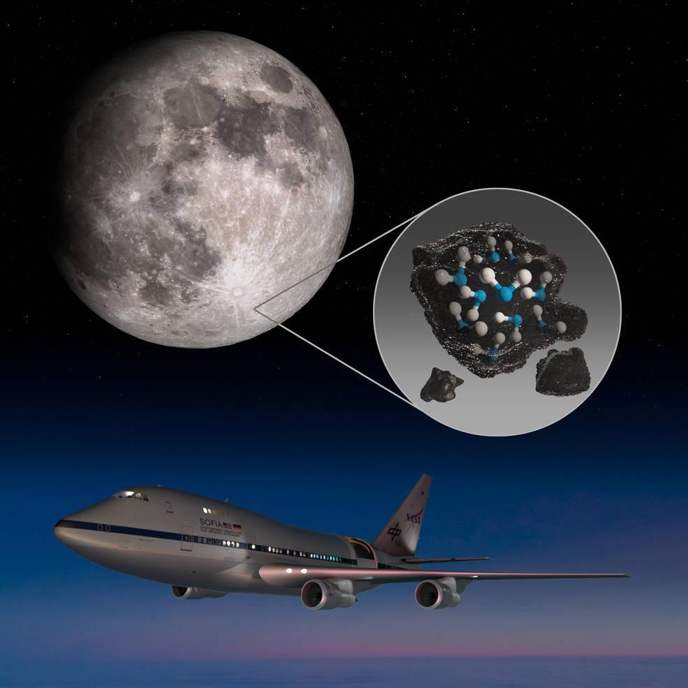 Nasa disse ter encontrado água em minerais na Lua. Foto: NASA/Daniel Rutter
