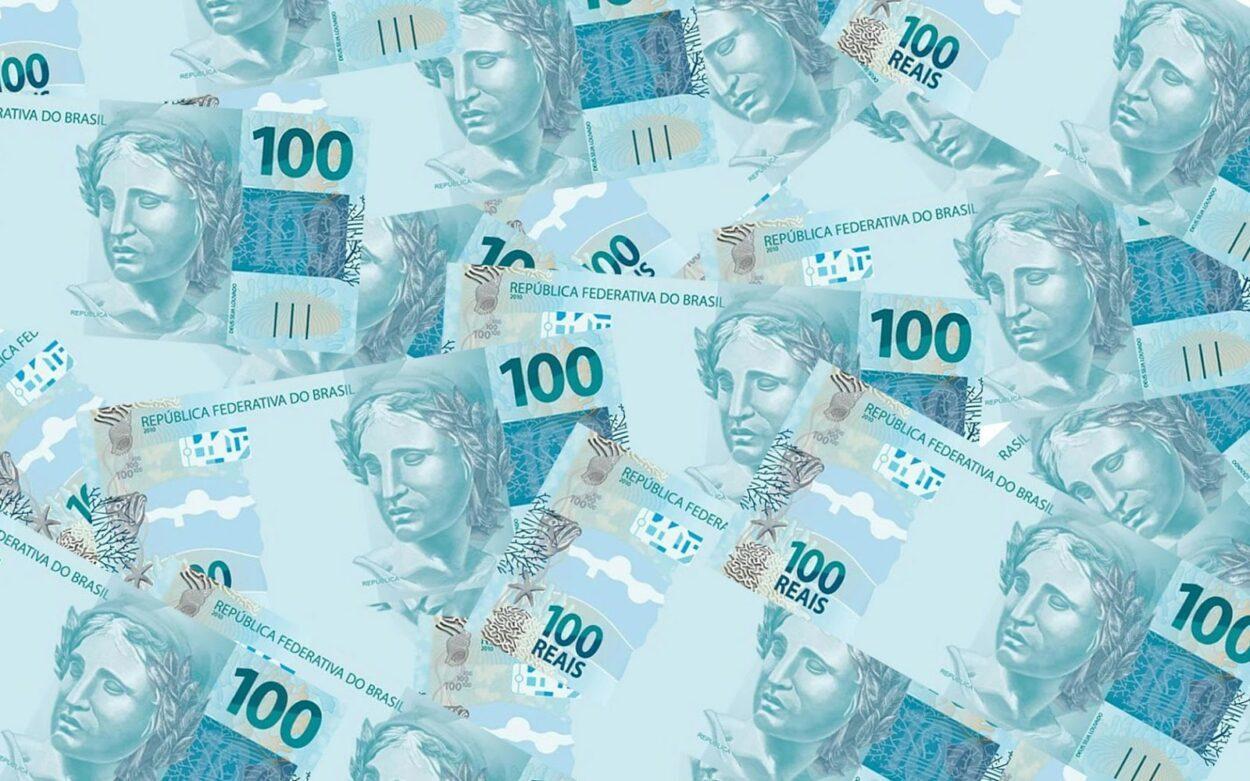 cédulas de 100 reais
