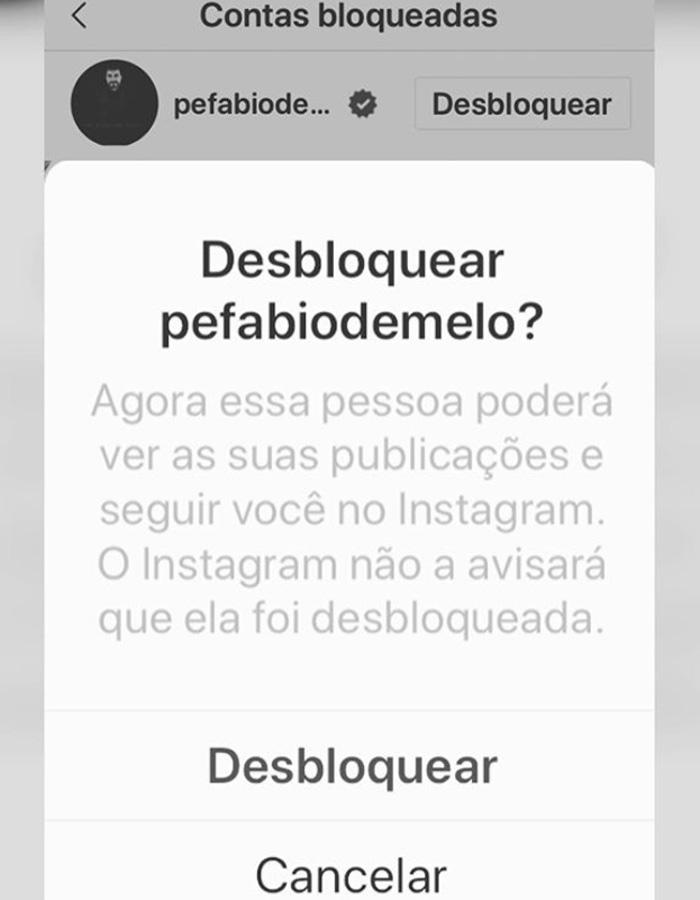 Evaristo Costa bloqueia Fábio de Melo