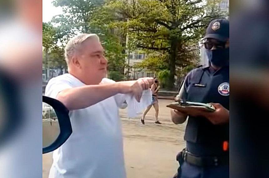 Desembargador é processado por guarda humilhado em Santos. Foto: reprodução