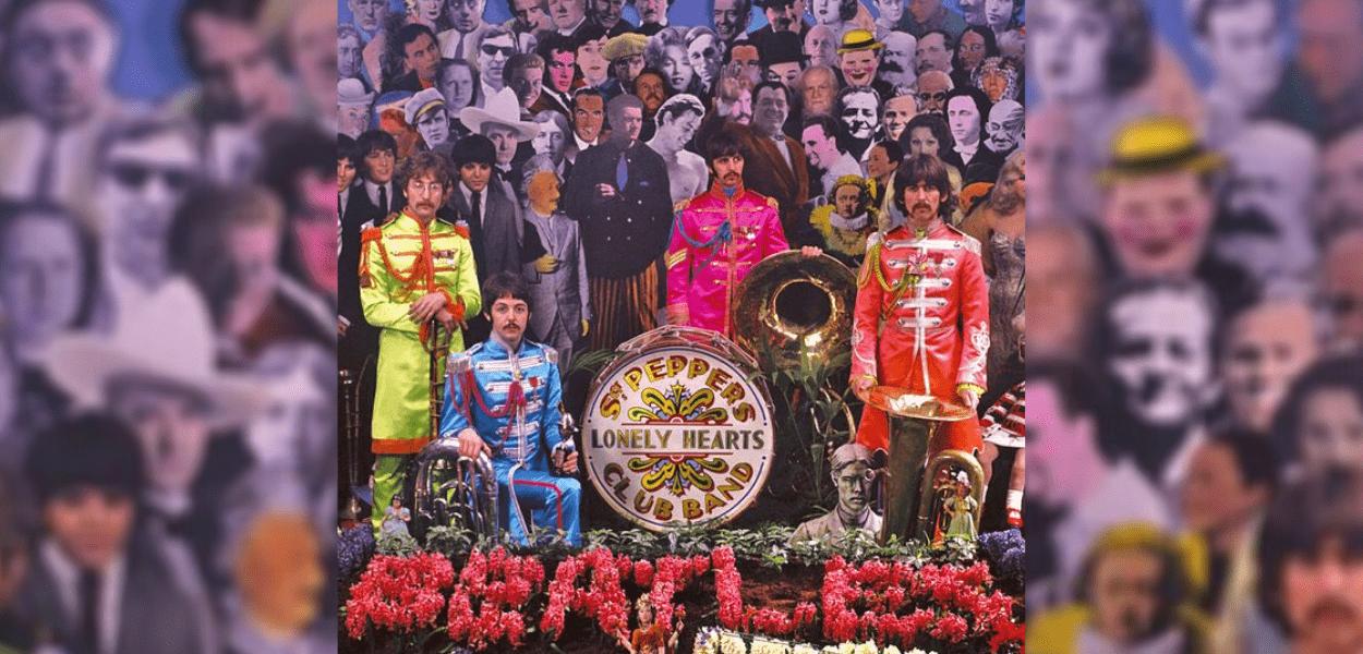 Outtake da sessão de fotos para capa do disco Sgt. Pepper Lonely Hearts Club Band