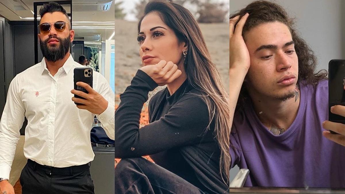 Gusttavo Lima, Mayra Cardi e Whinderson Nunes famosos solteiros
