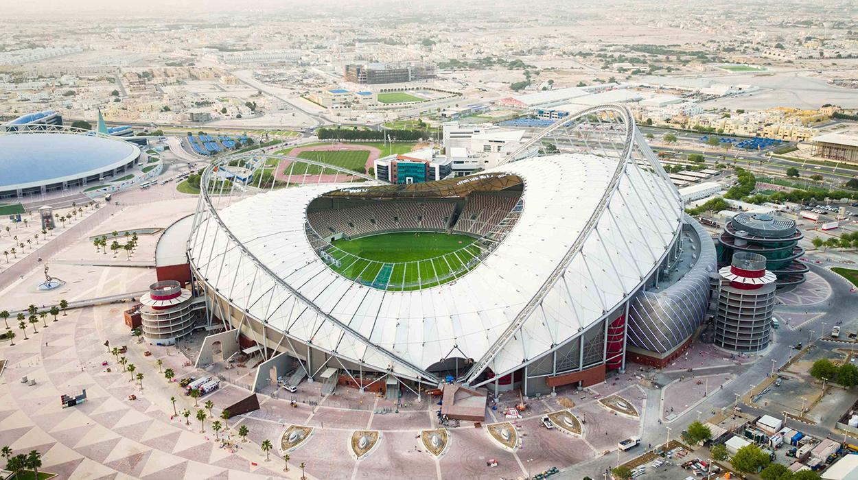 Estádio Khalifa, um dos palcos da Copa de 2022
