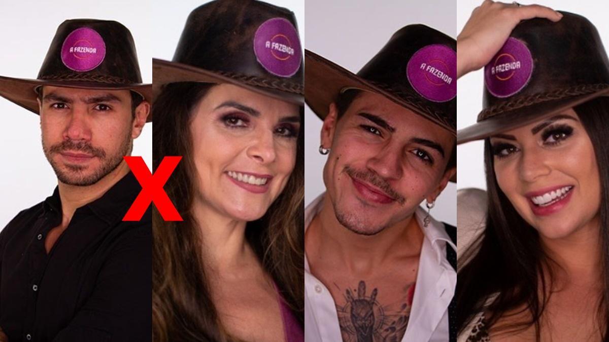 Mariano, Luiza Ambiel, Biel e Victoria Villarim em enquete A Fazenda 2020 (