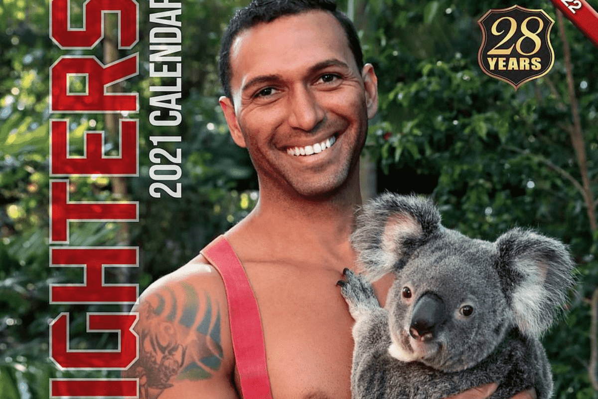 Bombeiros australianos em calendário 2021